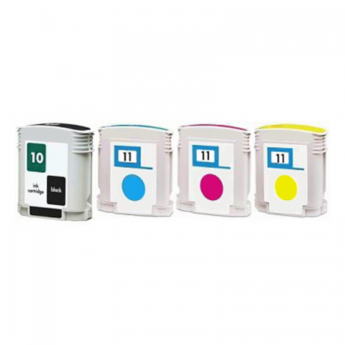 Multipack HP 82 Bk + HP 11 CMY (CH565A/ C4836A/ C4837A/ C4838A) - kompatibilný
