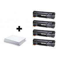 Sada 4 x HP 85A (CE285A) PREMIUM black + kancelársky papier A4 ZADARMO - kompatibilný