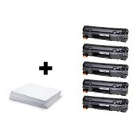 Sada 5 x HP 85A (CE285A) PREMIUM black + kancelársky papier A4 ZADARMO - kompatibilný