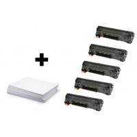Sada 5 x HP CF283A + kancelársky papier A4 ZADARMO - kompatibilný
