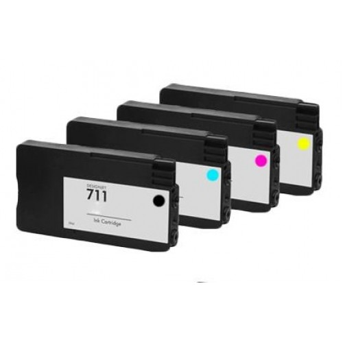 Multipack HP 711 (CZ130A/ CZ131A/ CZ132A/ CZ133A) - kompatibilný