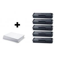 Sada 5 x Samsung MLT D111S (Samsung 111S) + kancelársky papier A4 ZADARMO - kompatibilný