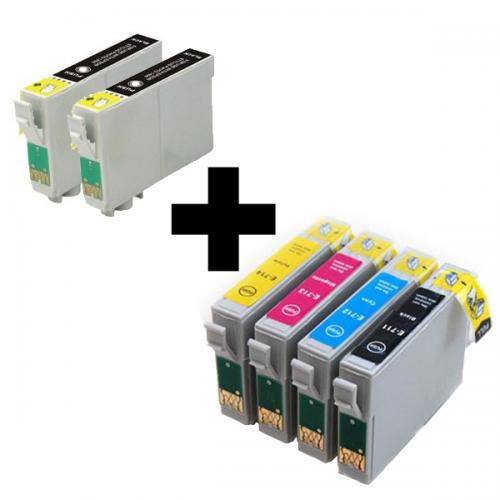 Multipack Epson 2 x T0711+ T0715 (T0711/T0712/T0713/T0714) - kompatibilný
