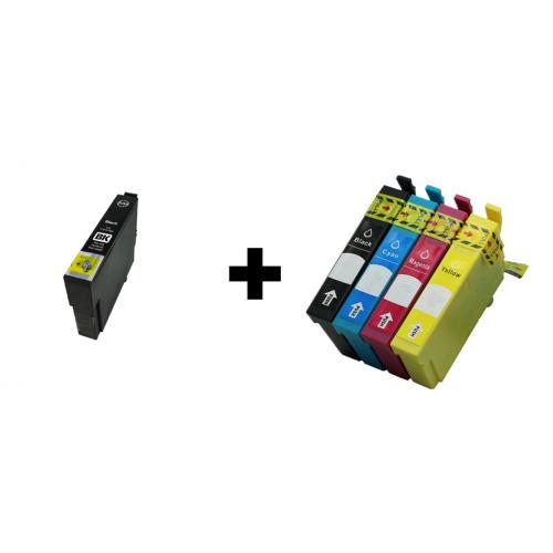 Multipack Epson T0711+ T0715 (T0711/T0712/T0713/T0714) - kompatibilný