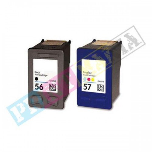 Multipack HP C6656AE + C6657AE (HP 56/HP 57) - kompatibilný