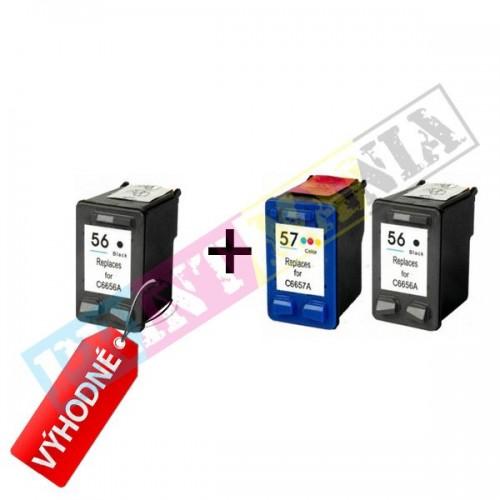 Multipack 2 x HP C6656AE + C6657AE (HP 56/ HP 57) - kompatibilný