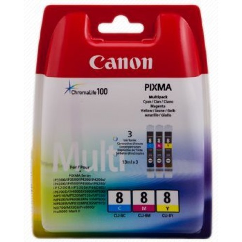 Canon CLI-8 CMY Pack - originálny
